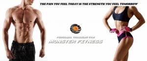 Monster fitness看板デザイン